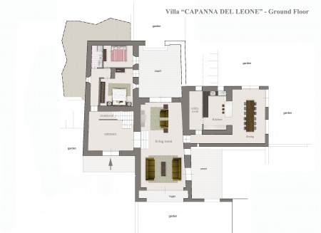 Tuscan Country Villa in Val d'Orcia near Montalcino